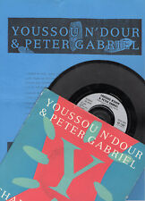 "YOUSSOU N'DOUR & PETER GABRIEL""SHAKIN' THE TREE"" RARE 7""VINYL+SPANISH PRESS NOTE"