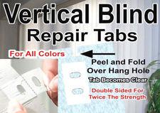 20 PACK!! VERTICAL BLIND ⭐ #1 ADHESIVE REPAIR TABS ⭐ SLAT VANE REPLACEMENT SAVER