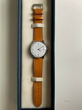 Handmade Tan English Bridle Men Watch Model T1A Stainless Steel SEKFORD