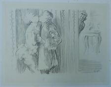 Grand Dessin Original Fusain HERMANN-PAUL (1864-1940) Scène Erotique Couple 1900