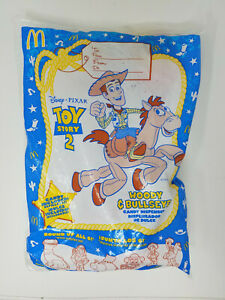 1999 McDonald's Disney Pixar Toy Story 2 Woody & Bullseye Candy Dispenser NOS