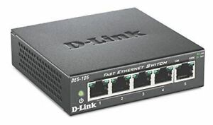 D-Link DES-105/E 5-Port Fast Ethernet Switch  100Mbps - EU Plug