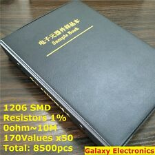 1206 1 Smd Smt Chip Resistors Assortment Kit 170values X50 Assorted Sample Book