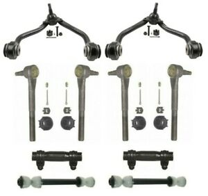 Moog Front Control Arms w/ Inner & Outer Tie Rods & Sleeves For GMC Chevrolet
