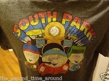 SOUTH PARK  GRAY S/S OLDER VINTAGE T SHIRT ADULT MEDIUM