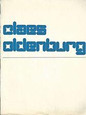 OLDENBURG - Claes Oldenburg. Stedelijk Museum  Amsterdam  1970