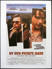 MY OWN PRIVATE IDAHO 1991 FILM MOVIE POSTER PAGE . RIVER PHOENIX KEANU REEVES N8
