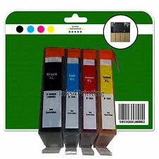 1 Set + 1 negro con chip NO OEM Tinta para HP 3070a 3520 4610 4620 4622 364x4 XL