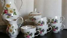 Kaffeegeschirr Tirschenreuth Sommerblumen alt, 20 Teile gut erhalten, Goldrand