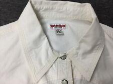 True Religion White Popper Fastened Long Sleeve Ladies Shirt Sz M 10 12 Western