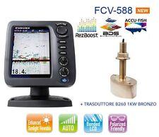 FURUNO FCV 588 ECOSCANDAGLIO / FISH FINDER - CON TRASDUTTORE B260 1 KW BRONZO