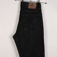 Mens Wrangler Authentics Jeans Black Straight Leg Regular Fit W 32 L 32 Vintage