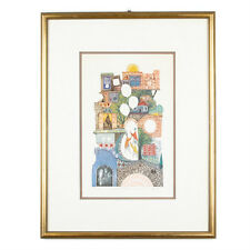 """""""Children With Balloon In Safat"""" By Amram Ebgi Signed Ltd Edition Etching w/ CoA"""