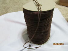 """1/8""""  RAW EDGE LEATHER Suede Trim  single face stitched Brown Spool 450 y"""