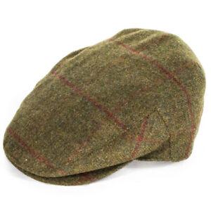 Failsworth Hats Porelle Waterproof Flat Cap - Green/Red