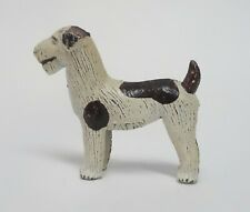 Vintage Painted Metal Fox Terrier Dog Figurine Japan Toy Collectible