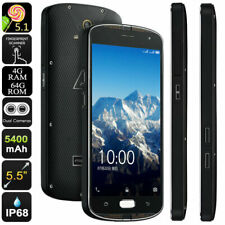 "Unlocked 5.5"" AGM X1 4G LTE Smartphone Rugged Android Mobile Waterproof Dual SIM"