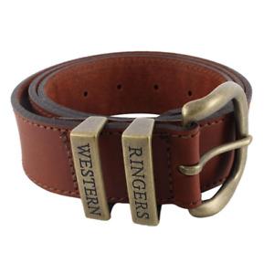James Belt - Tawny Brown / Gold Leather Belt