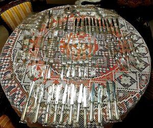 Servizio posate in argento 800 punzonate CESA 1882 - 77 PEZZI