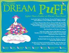 Quilt Bating Quilters Dream Puff Batting Super Queen Size High Loft Quilting