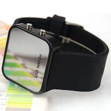 LED Armbanduhr Damenuhr Herrenuhr Uhren Watch Unisex Silikon Schwarz Kits Gift