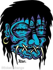 Blue Shrunken Head STICKER Decal Kruse RK13 Roth Like