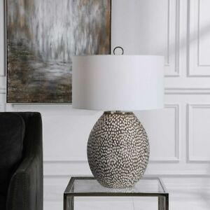 """CYPRIEN MODERN PITTED RUSTIC CERAMIC XL 27"""" TABLE LAMP UTTERMOST"""