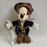 Mickey Mouse Pirate Caribbean Disney Parks stuffed animal bean bag plush toy