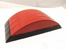 Vtg Art Deco Bakelite Dome Top Box Lady Lillian Cosmetic Manicure Set Black Red