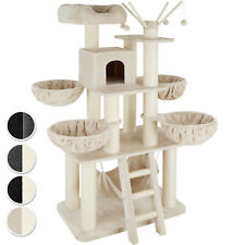 Cat Tree Scratchers Post Furniture Tower Animals Sisal Hammock Solid 195 cm New
