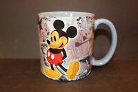Authentic Original Disney World Theme Parks Mug Mickey Mouse Vintage Sketch Blue