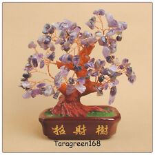 Feng Shui  BIG PURPLE ROCK CRYSTALS Lucky Money Tree