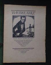 rare 1925 BAUDELAIRE 13 petits poèmes en prose/ illustré par Cochet 1/25 pur fil