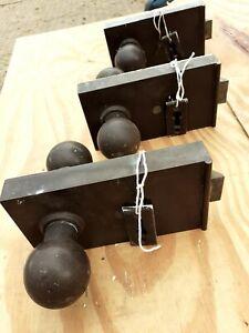 Vintage old Antique Retro Bakelite Door Rim lock handles set pair x 3 available