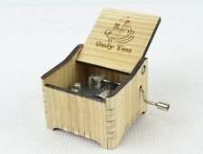 Personalized Hand Crank Wooden Music Box (Only You - The Platters)