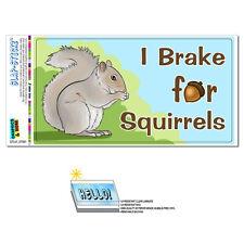 I Brake for Squirrels - Funny - SLAP-STICKZ™ Car Window Locker Bumper Sticker