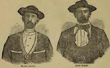 Life and Adventures of Frank And Jesse James 1880 Book