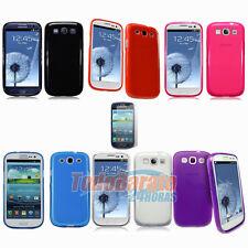 2 Funda Gel TPU + 2 protectores Samsung Galaxy S3 NEO III I9300 I9301 Negra ETC.