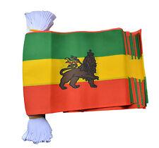 Ethiopia With Lion 9 Metre Bunting 30 Flags Flag Rasta Ethiopian Rastafarian