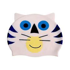 Ishka Children Kids Silicone Swim Swimming Cap Hat Perky the Cat  New