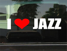 I LOVE JAZZ MUSIC  WINDOW/BUMPER STICKER