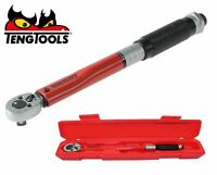 "Genuine Teng 1492AGE 1492AG-E Torque Wrench 5-25nm 1/4"" Drive & Hard Case 25nm"