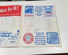 1983 PITTSBURGH PIRATES VS ASTROS SIGNED NOLAN RYAN JOE NIEKRO PUHL SCOTT