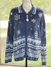 Heirloom Collectibles Large Christmas Collection 2004 Full Zip Sweater NWT (BM)