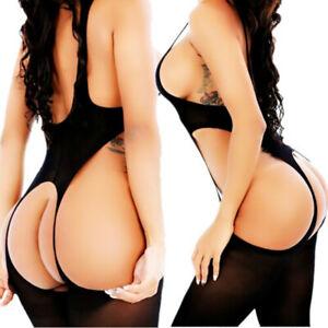 Plus Size Adult Women Sexy Lingerie Bodysuit Bodystockings Thigh-Highs Underwear