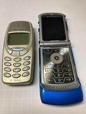 New ListingLot of 2 Phones ~ Motorola Razor Flip Cell Phone ~ V3 ~ Vga Zoom 4X & Nokia