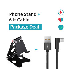 BUNDLE 6ft Phone Cable + Phone Stand