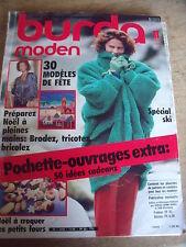 MAGAZINE BURDA MODEN SPECIAL SKI ET SOIREE   11/1985