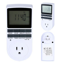 7-DAY Heavy Duty Digital Electric Programmable Dual Outlet Timer US Plug Indoor