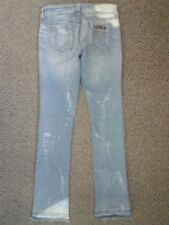 "Serfontaine Mezzanine Boot Cut Blue Jeans Destroyed Look Sz 26 Inseam 34"""